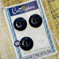 ビンテージ ネイビークモの巣 ボタン 3pc セット