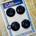 ビンテージ ネイビークモの巣 ボタン 4pc セット