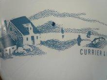 他の写真2: sold グラスベイク ミルクグラス カーリアー&アイブス カスタードカップ 1970年代