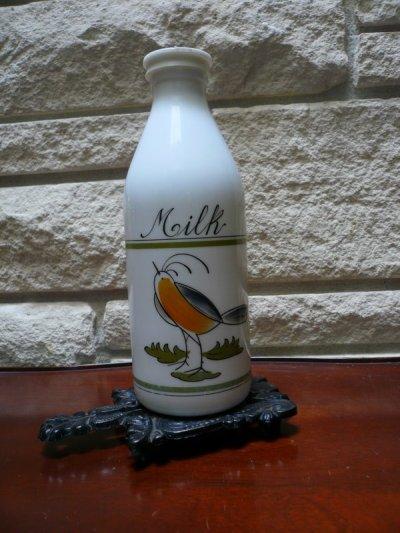 画像1: Italian Milk Bottle, Bird